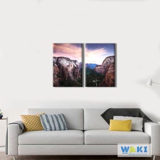 Bộ 2 tranh treo tường phong cảnh W224