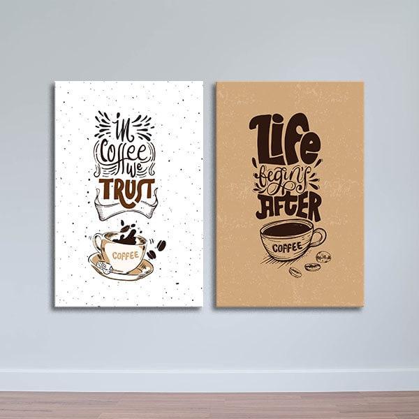 Bộ 2 tranh trang trí quán cà phê W410