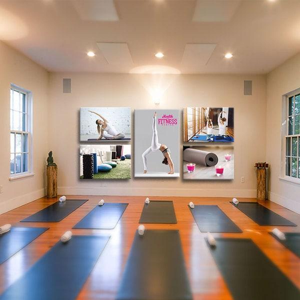 Bộ 5 tranh treo tường phòng yoga cho mọi người W581