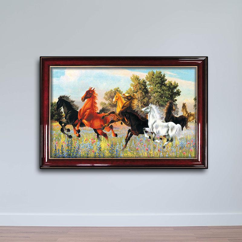 Tranh mã đáo thành công, tranh ngựa, bát mã