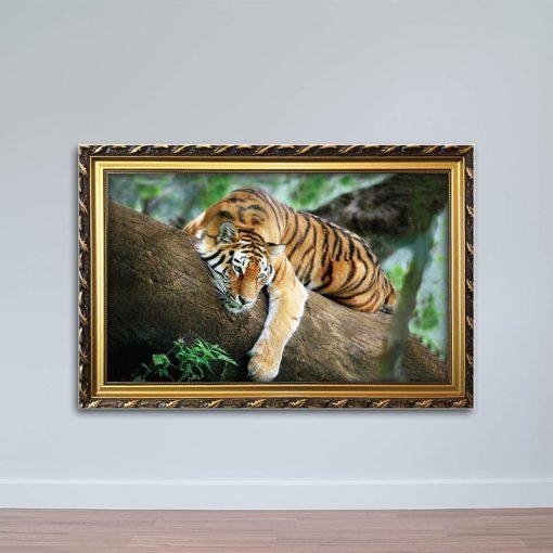 Tranh con hổ (cọp), hươu, nai